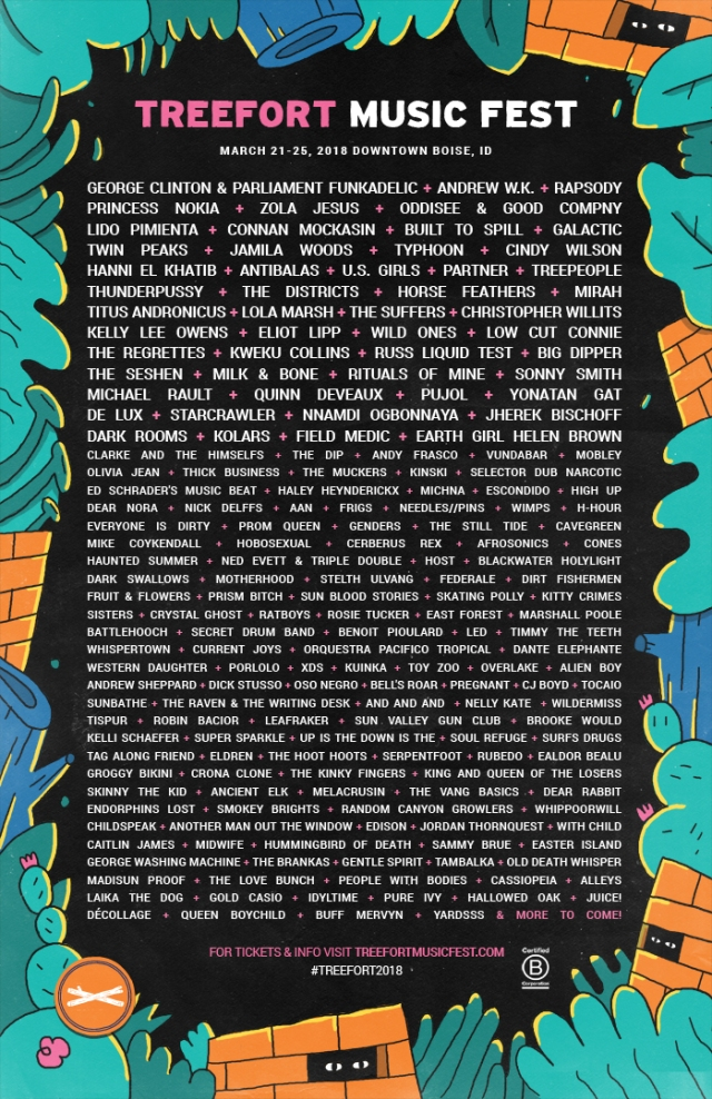 Treefort Music Fest 2018 Lineup Round 1+2 (lo res)